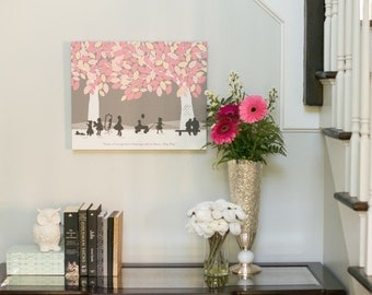 Mother in law gift, A gift your mother in law will LOVE Art Print Personalized w/ her grandchildren // Choose Size & Type // H-F05-1PS HH9
