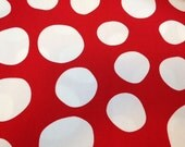 "Cotton Canvas Fabric Big Spots in Red by Micheal Miller Fabrics 1/2 Yard by 57"" Wide"