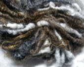 Handspun Shaggy Icelandic Wool Textured Art Yarn in Natural Colors and Bulky Weight by KnoxFarmFiber for Knitting Crochet Embellishment