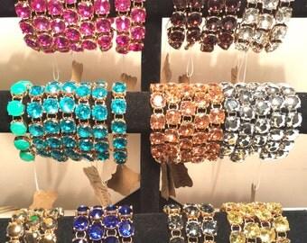 Crystal Bracelet Designer Inspired Crystal Setting Pick a Color