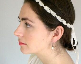 Leaf Crown, Bridal Headband, Flapper Headband, Great Gatsby Headband, Deco Headband, Silver Leaf Headband, Wedding Headband, ifanhour