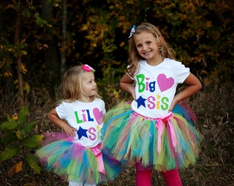 Big Sis or Bro and Lil Sis or Bro Matching Sets,  New Baby, Baby Announcements, Sibling Shirts, New Baby Photo Shoot, Made To Order