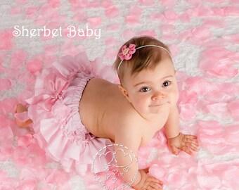 All Around Ruffle Sassy Pants Pink Ruffle Diaper Cover Bloomer Panty