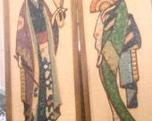 Oriental Pair of PEBBLE,GRAVEL, STONE Art