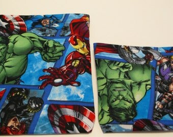 2pc Reusable Sandwich and Snack Bag Avengers