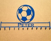 Medal Holder with Soccer Ball and Personalized Text Field  (S5)