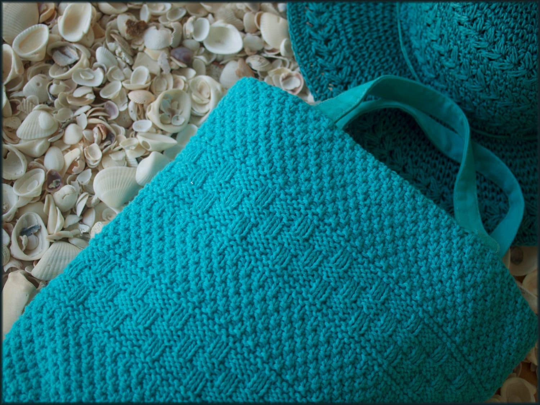 Double Knitting Bag Pattern : Sarasota Shopper Knitting pattern Linen-lined shopping bag