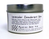 Lavender Cedarwood Deodorant Balm - Natural Deodorant - Organic Deodorant - featured in the book Plastic Free - Vegan 4 oz