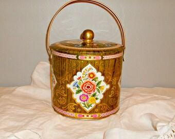 Vintage Floral Tin | Gypsy Boho Home Decor