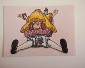 Alice in Wonderland White Rabbit House Postcard