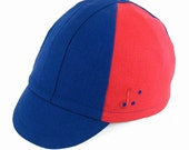 The Heroic Cycling Cap: Blue and Red