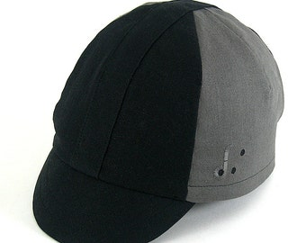 The Heroic Cycling Cap: Black and Grey