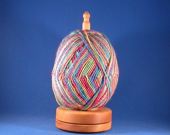 Deluxe Curried Satinwood Yarn/Thread Holder - Natural Wax Finish