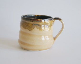 Porcelain Light Yellow Cup / Yellow Ceramic Cup / Small Yellow Mug / Wheelthrown Mug