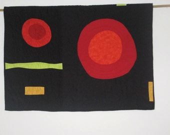 Quilted Geometric Art Wall Hanging