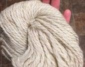 Jacob Sheep Yarn, 3 oz. 150 yards, 2-ply Bulky/Worsted weight, mill spun, very soft