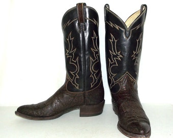 Vintage Tony Lama Cowboy boots mens size 10 A / womens 11  narrow width