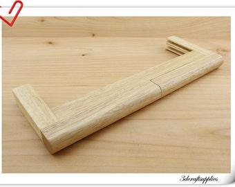 New Natural wood purse frame 32cm x 11.5cm (purse making supplies)   Z5