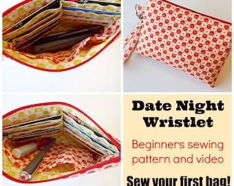 Purse pattern - Simple wallet Pattern PDF sewing pattern childrens sewing patterns