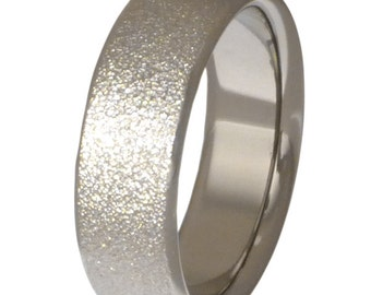 Frost Titanium Wedding Band  - n12 Frost