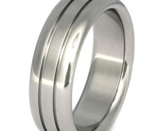 Titanium Wedding Band - Man's Wedding Ring - Woman's Band - n19