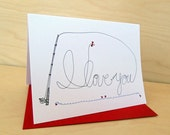 Tie my Heart - Fly Fishing Card