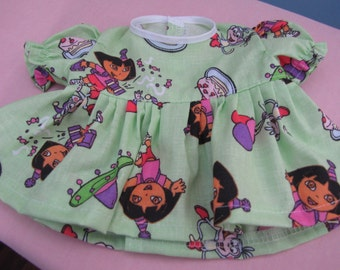 Green Dora the Explorer Dress and Panties for Bitty Baby
