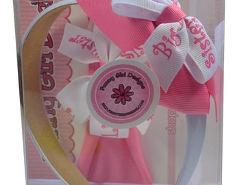 Big Sister Little Sister Matching Headband Boxed Gift Set