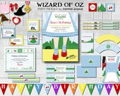 Wizard of Oz Party Package- Dorothy's Gingham Dress, Ruby Red Slippers + Yellow Brick Road - DIY Printable Files (Partial Instant Download)