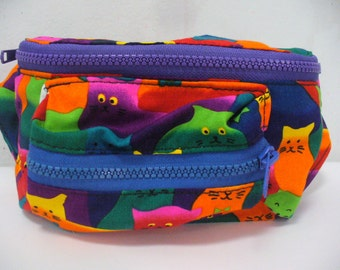 LAST ONE LEFT Rainbow Cat Fanny Pack