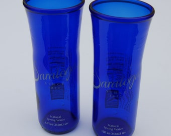 Set of two Saratoga Natural Spring Water Bottle Glasses