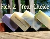 Soap Set, Soap Gift Set, Soap Sampler, Handmade Cold Process Soap,  All Natural Soap, Soap Gift, Gift Set, Soap Gift Set Hostess Gift PICK 2