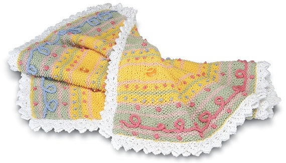 Knitting Pattern Cotton Blanket : Knitting Pattern/PDF/Baby Blanket/Cotton Blanket/hand knitted/cotton baby bla...
