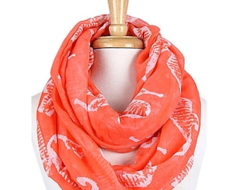 Coral Infinity Seahorse Scarf