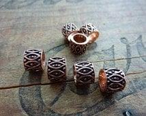 Bead Copper Filigree Bead Large Hole Beads (4) IC321