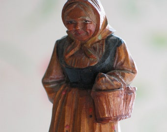 Anri Character Woman With Basket Wonderful Features Very Sweet Italy