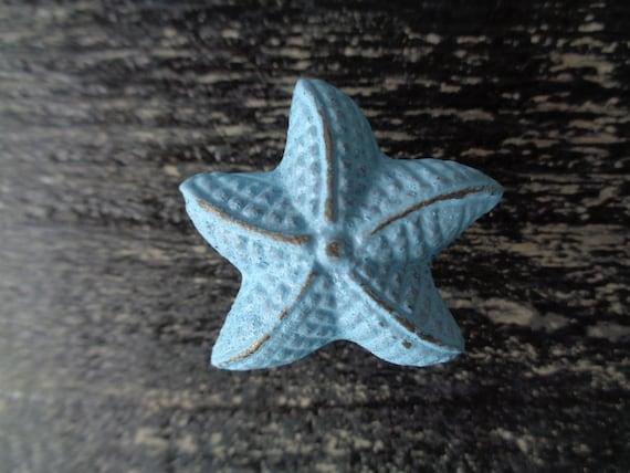 Starfish knobs, nautical beach decor best seller cabinet knobs drawer pulls dresser drawer knob