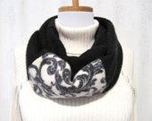 Black Cashmere Infinity Scarf / Winter Scarf / Black Infinity Scarf / Black Cashmere Scarf / Neck Warmer Felted Cashmere Sweaters (No619)