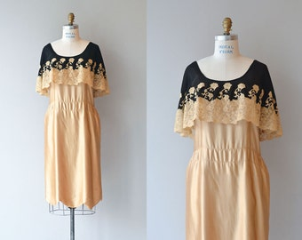 Fleur Dorée dress | 1920s silk dress • vintage 20s dress