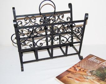 Vintage Floor Stand / Rack 1950's Wrought Iron