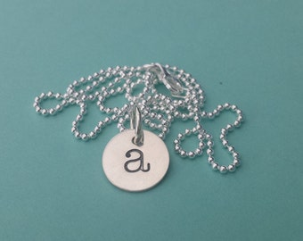 CUSTOM Sterling Silver INITIAL charm Necklace
