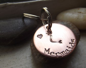 Mermaid with a kiss of love Keychain