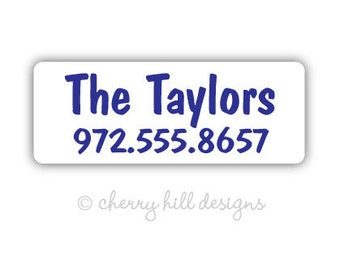PLAIN BLUE Iron-on clothing and fabric labels - set of 42 (smallest set) - several template options