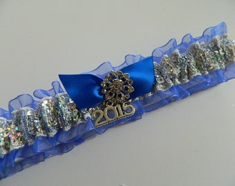 Royal Blue Prom Garter/Sequence Prom Garter/2017 Prom Garter/Royal Blue Garter Belt/Royal Blue Dance Prom Garter
