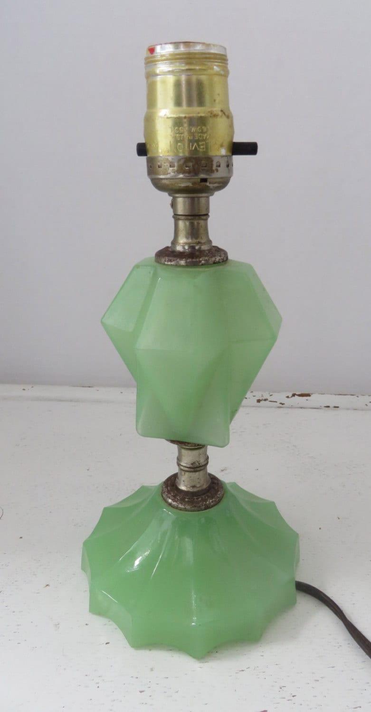 Vintage Jadeite Jadite Small Lamp