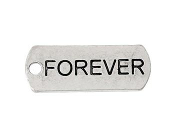 Forever - Message Charm - Set of 6 - #HK1133