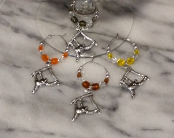 Orangutan  Monkey  Wine Charms WITH POUCH