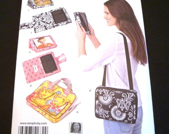 Simplicity Pattern 1630 - Sewing Pattern - E-Book Cover Pattern - E-Book Reader Carry Case - Carry Case with Handle Pattern