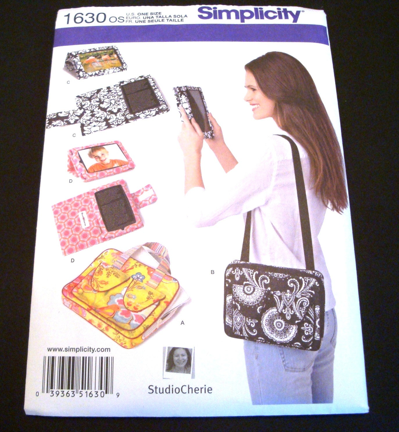 Book Cover Pattern Guide ~ Simplicity pattern sewing e book cover