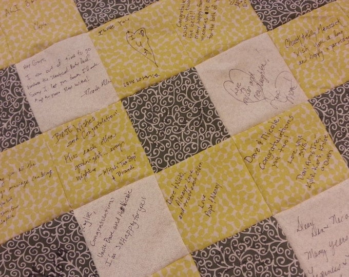 Signature Quilt custom made for Weddings, Anniversaries, Baby Showers and Retirement